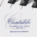 Cantabile Pianowedstrijd audio CD Cover
