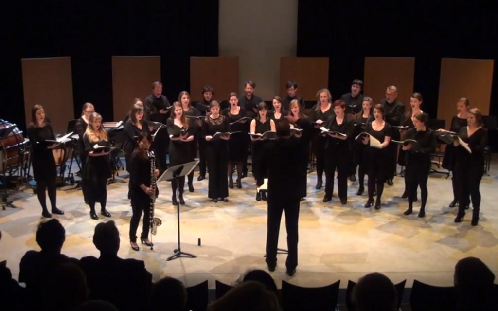 Opposites van Alain Craens voor bassklarinet en gemengd koor